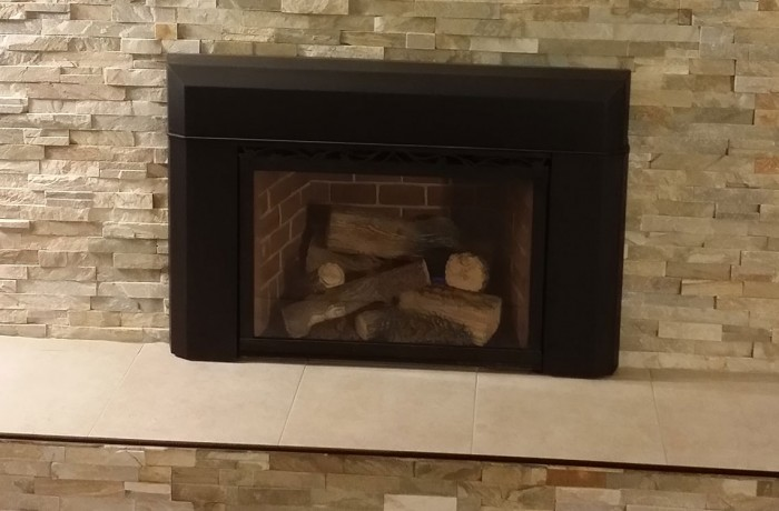 Stone Pattern Fireplace